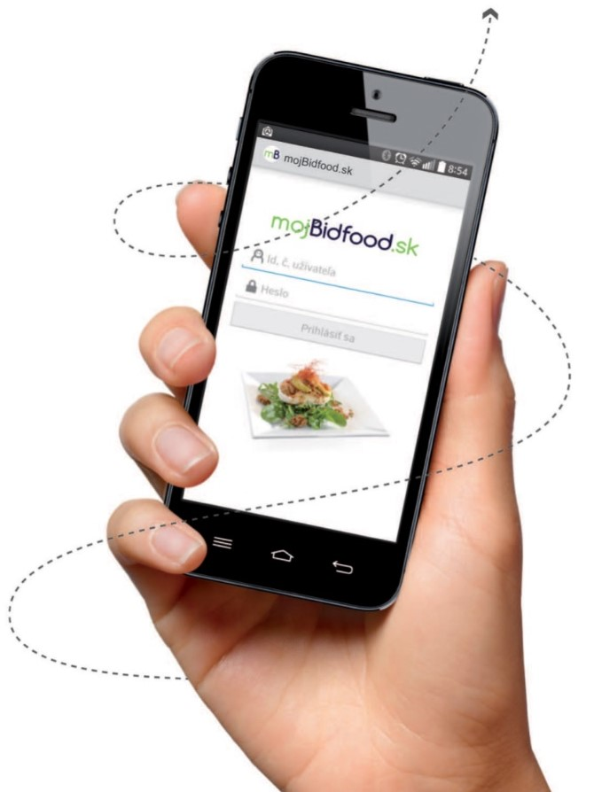 mojBidfood | mobilná aplikácia